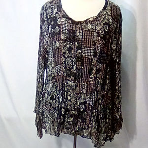 Coldwater Creek Crinkle blouse Size 1X